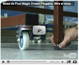 Ver video del despliegue de Mesa de Pool Magic Dream