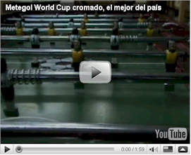 Ver video detalles generales Metegol World Cup